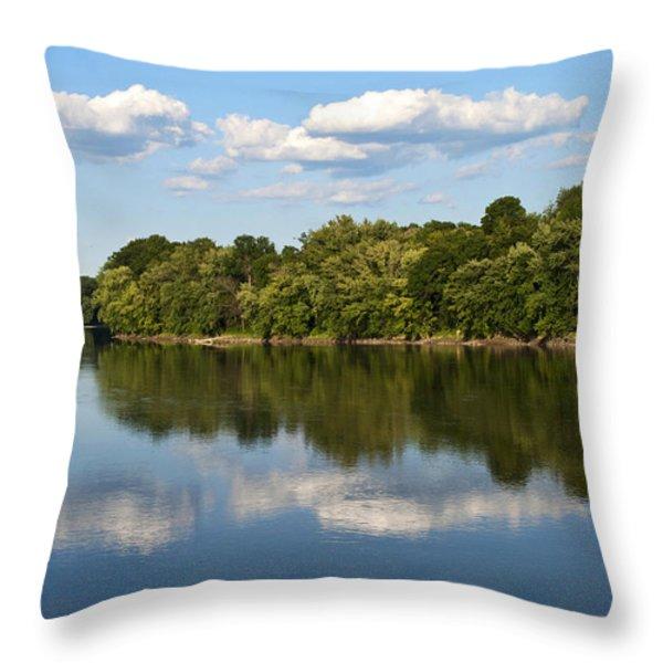 Susquehanna River Throw Pillow by Christina Rollo