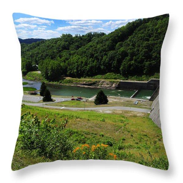 Sutton Dam Throw Pillow by Thomas R Fletcher