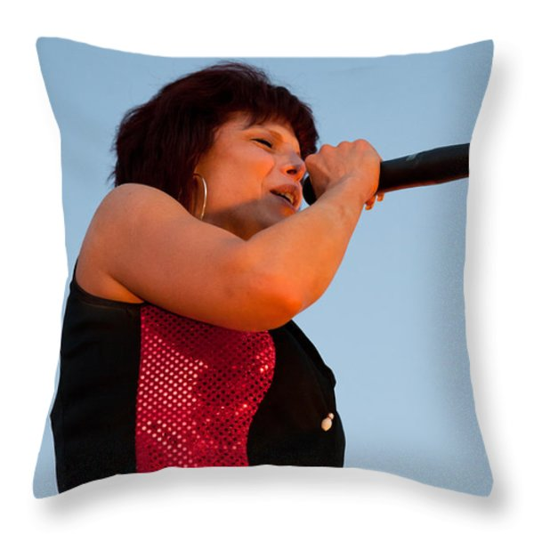 Suzanne Fox of The Fabulous Kingpins Throw Pillow by David Patterson