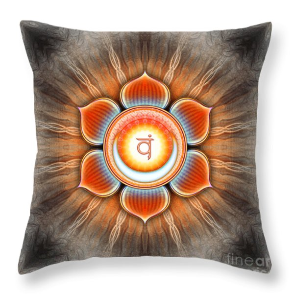 Svadhisthana Chakra Series Iv Throw Pillow by Dirk Czarnota