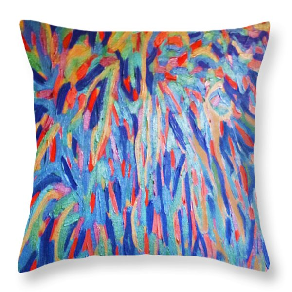 Swan Lake Ballerina Throw Pillow by Eunice Broderick