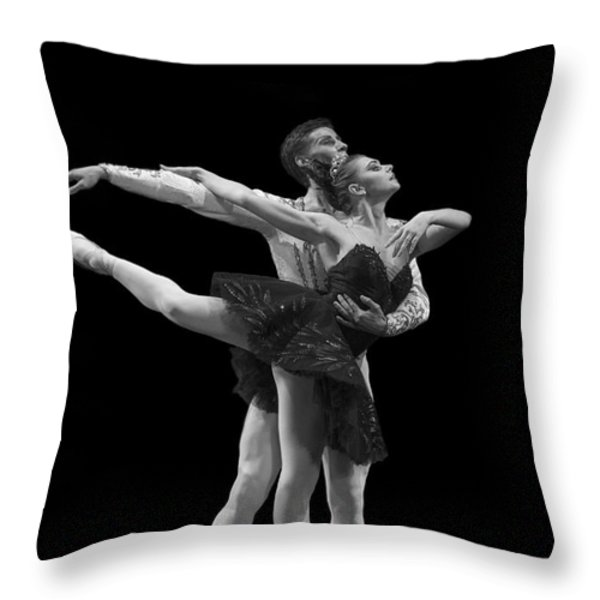 Swan Lake  Black Adagio  Russia  Throw Pillow by Clare Bambers