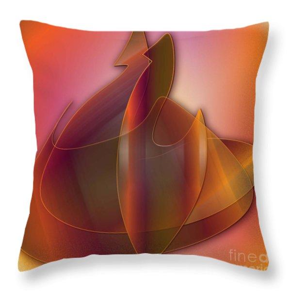 Swans Throw Pillow by Iris Gelbart