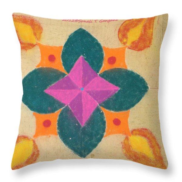 Swarna Jyot Throw Pillow by Sonali Gangane