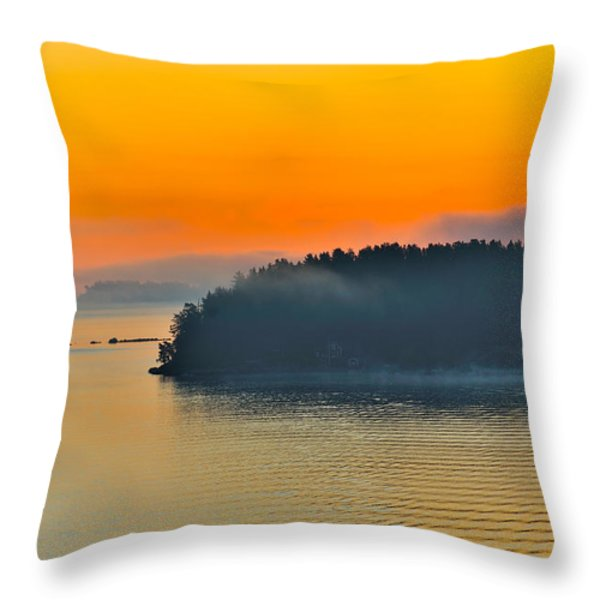 Swedish Sunrise Throw Pillow by Marianne Campolongo