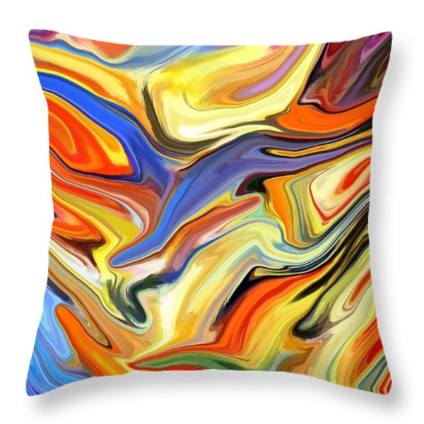 Sweeping Skies Throw Pillow by Chris Butler