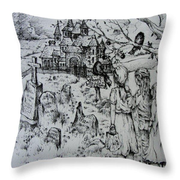 Sweet Apples Throw Pillow by Rachel Christine Nowicki
