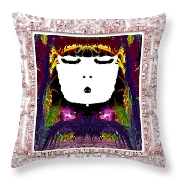 Sweet Throw Pillow by Caroline Gilmore