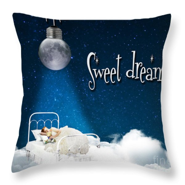 Sweet Dreams Throw Pillow by Juli Scalzi