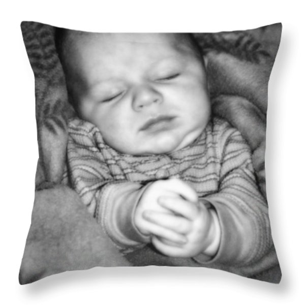 Sweet Dreams Throw Pillow by Susan Leggett