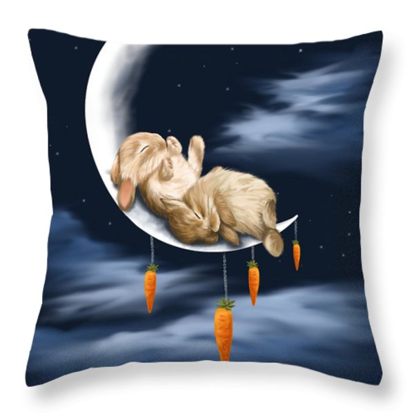 Sweet Dreams Throw Pillow by Veronica Minozzi