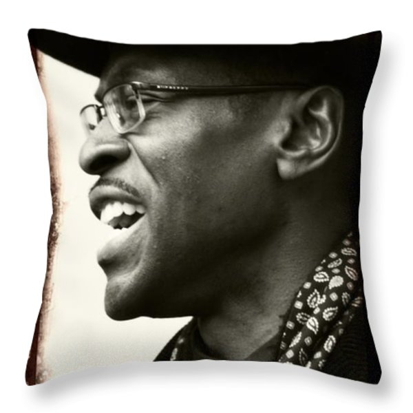 Sweet Hat Throw Pillow by Alice Gipson