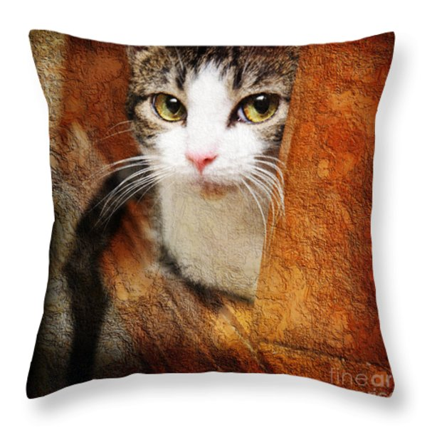 Sweet Innocence Throw Pillow by Andee Design