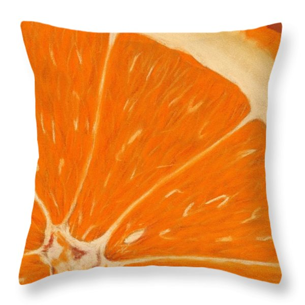 Sweet Orange Throw Pillow by Anastasiya Malakhova