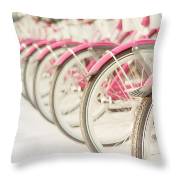 Sweet Rides Throw Pillow by Amy Tyler