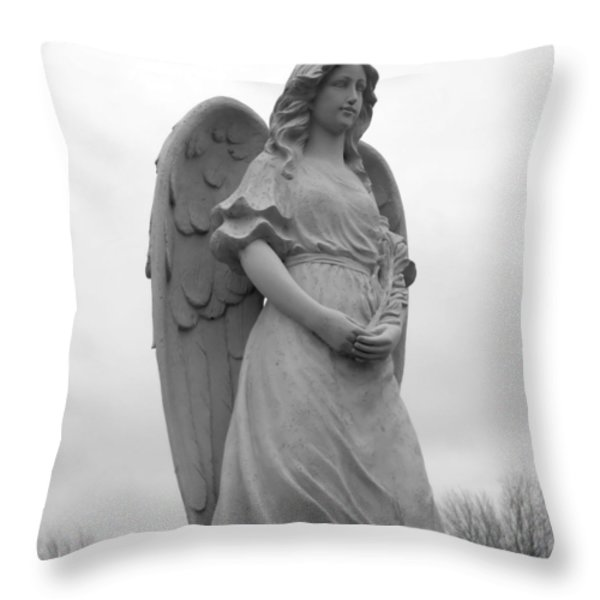 Sweet Seraphim Throw Pillow by Rachel E Moniz