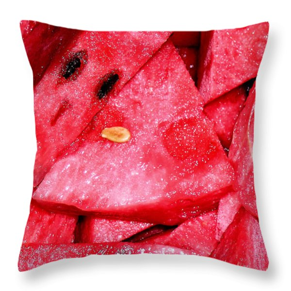 Sweet Summer Throw Pillow by James Temple