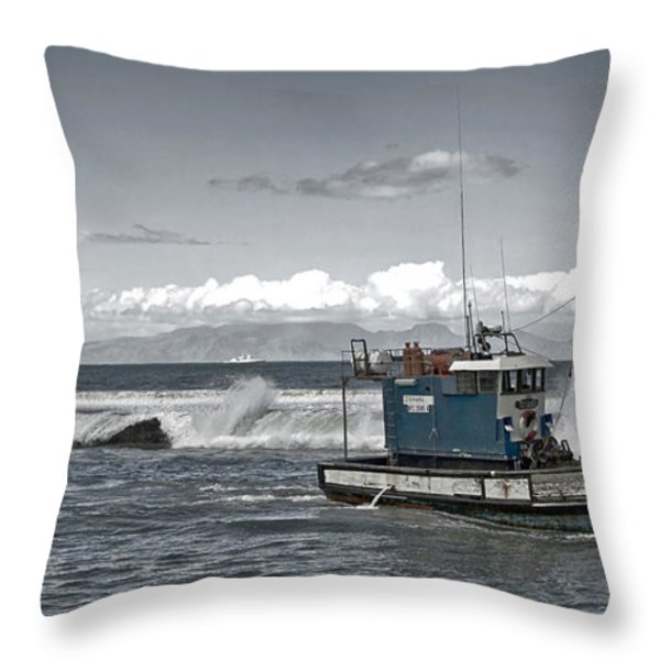 Swell Return Throw Pillow by Andrew  Hewett