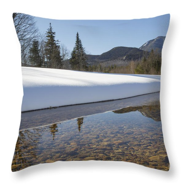 Swift River - Albany New Hampshire USA Throw Pillow by Erin Paul Donovan