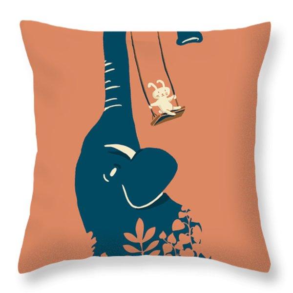 Swing Swing Throw Pillow by Budi Satria Kwan