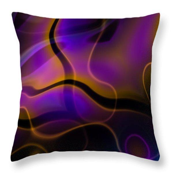 Swirly Bits Throw Pillow by Hakon Soreide