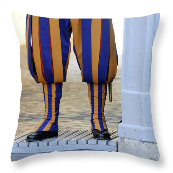 Swiss Guards. Vatican Throw Pillow by BERNARD JAUBERT