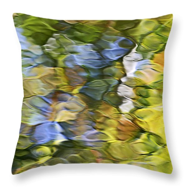 Sycamore Mosaic Throw Pillow by Christina Rollo
