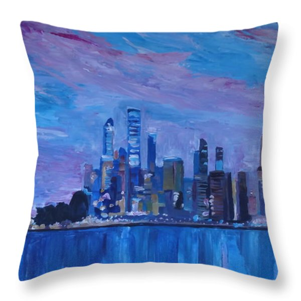 Sydney Skyline With Opera House At Dusk Throw Pillow by M Bleichner