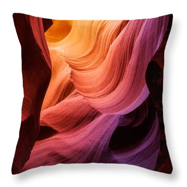 Symphony In Stone Throw Pillow by Inge Johnsson