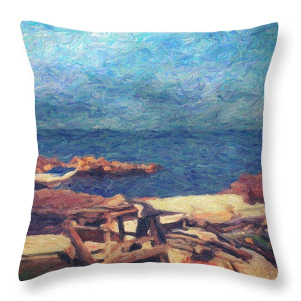 Symphony Of Silence Throw Pillow by Taylan Soyturk