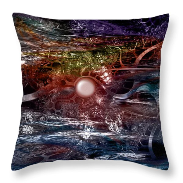 Synapse Throw Pillow by Linda Sannuti