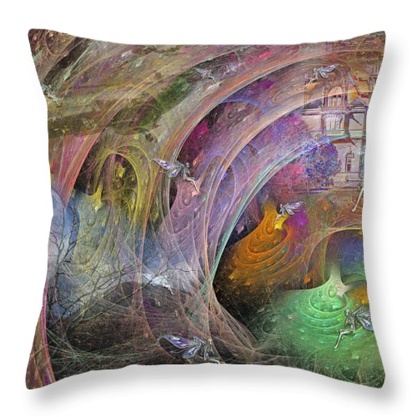 Synchronizing Times Throw Pillow by Betsy A  Cutler