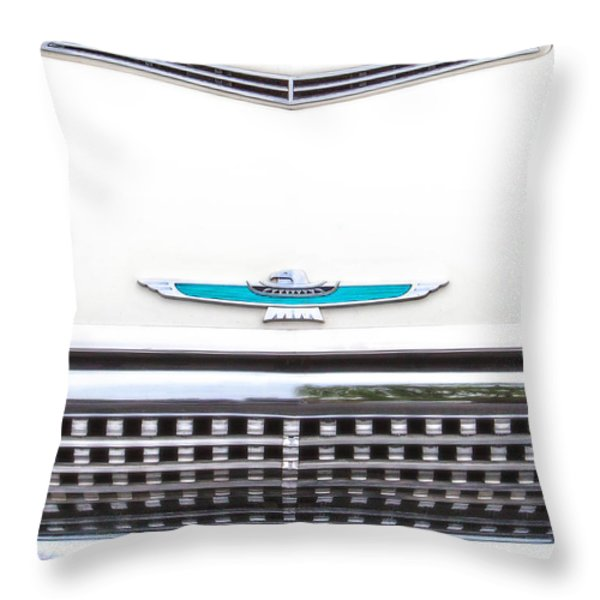 T-bird Hood Throw Pillow by Jerry Fornarotto