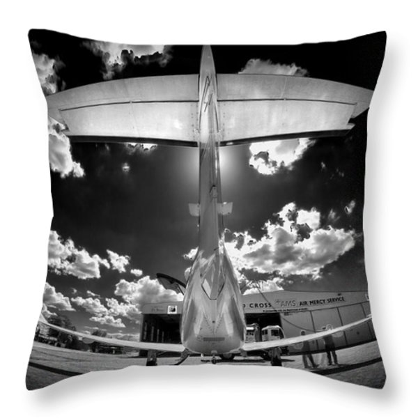 T Wing Throw Pillow by Paul Job