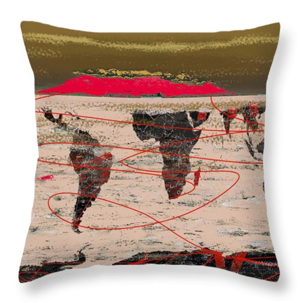 Table Mountain World Throw Pillow by Andre Pillay