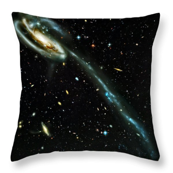 Tadpole Galaxy Throw Pillow by The  Vault - Jennifer Rondinelli Reilly