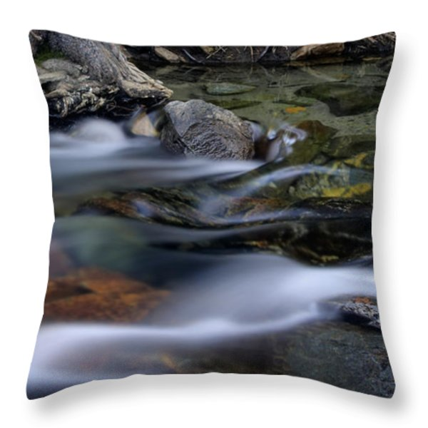 Tahoe Eagle River Throw Pillow by Dave Dilli