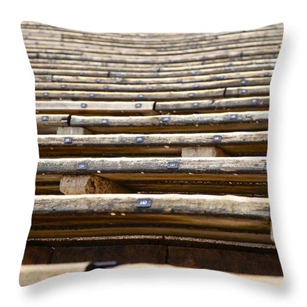 Take A Seat Throw Pillow by Charlie Brock