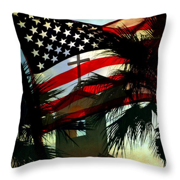 Take Back America Throw Pillow by Beverly Guilliams
