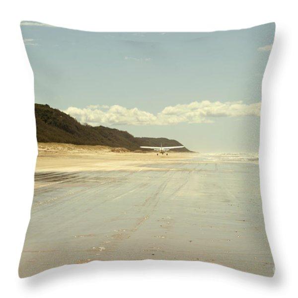 Take Off Throw Pillow by Linda Lees