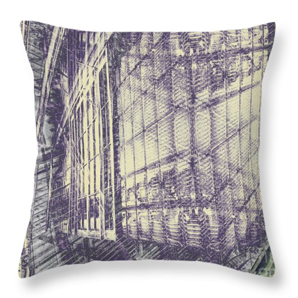 Take The Back Door Throw Pillow by CR Leyland