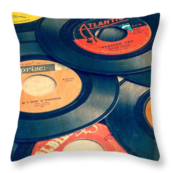 Take Those Old Records Off The Shelf Throw Pillow by Edward Fielding