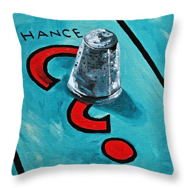 Taking a Chance Throw Pillow by Herschel Fall