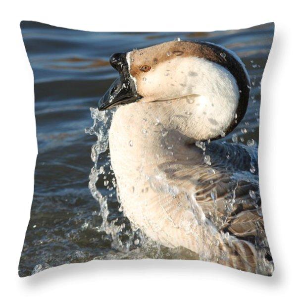 Taking A Dip Throw Pillow by Lorri Crossno