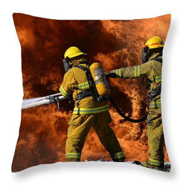 Taking A Stand Throw Pillow by Bob Christopher