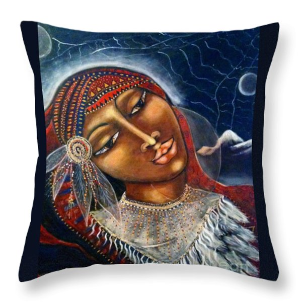 Taliswoman Throw Pillow by Maya Telford