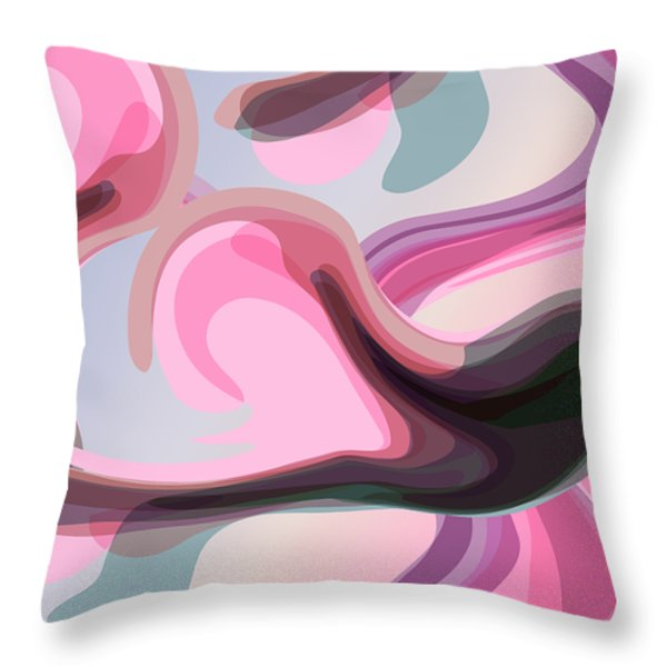 Talk To Me 3 Throw Pillow by Angelina Vick