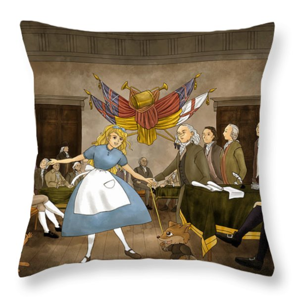 Tammy in Independence Hall Throw Pillow by Reynold Jay