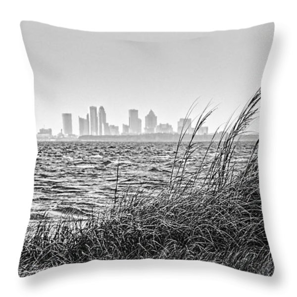 Tampa Across The Bay Throw Pillow by Marvin Spates