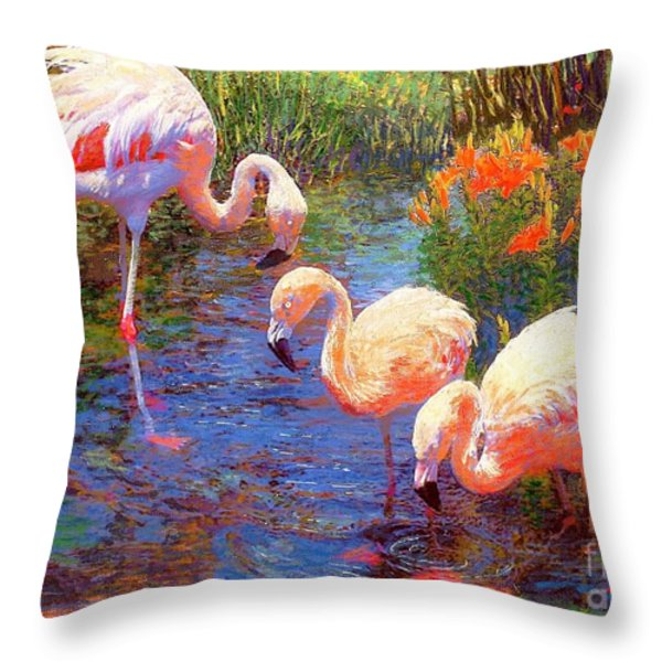 Tangerine Dream Throw Pillow by Jane Small